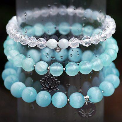 Armband mix - jadeit & bergkristall