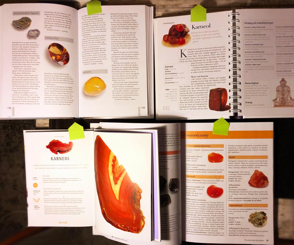 Om karneol - mina böcker om mineraler