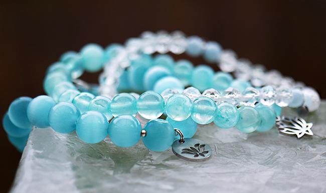 Armband - jade och bergskristall