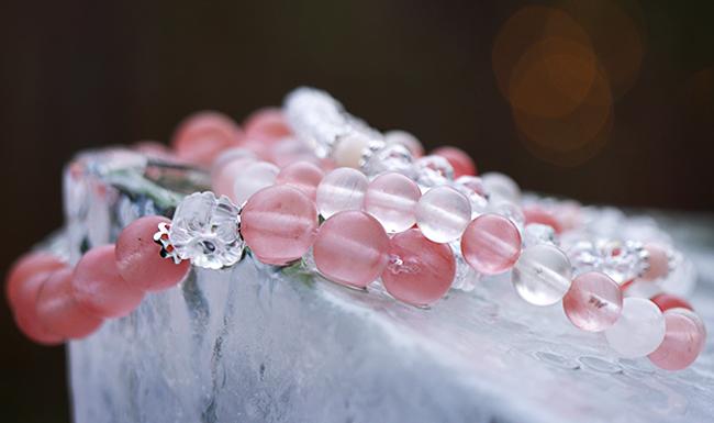 Armband i kvarts och bergkristall