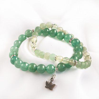 Armbandsset - Hope, grön aventurin & prehnit