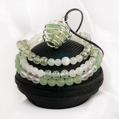 Armbandsset & Spiralhalsband – Healing