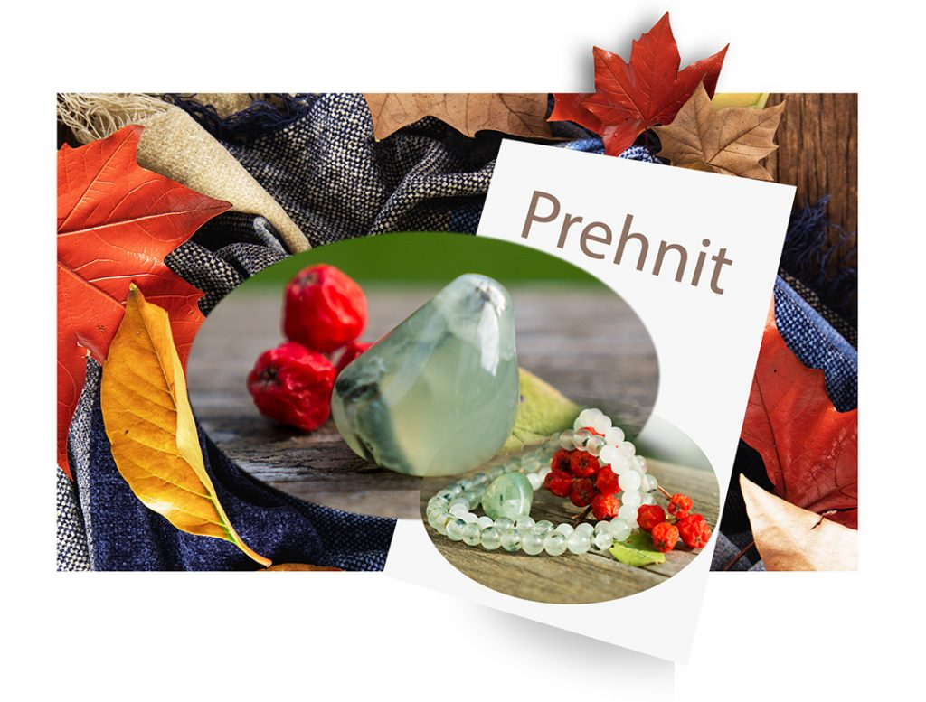 Armbandsset - Healing Prehnit Aventurin Månsten Bergkristall Mineralsmycken