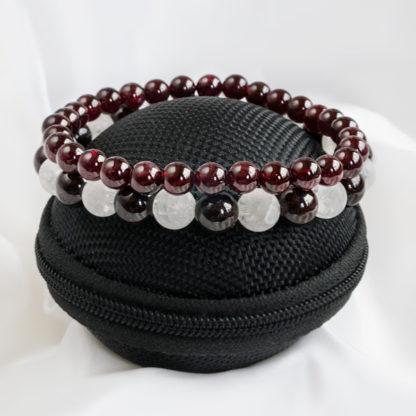 Armbandsset Fancy - Bergkristall & Granat