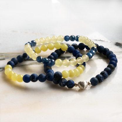 Armbandsset Frends - (sodalit, serpentin,kyanit, jade)