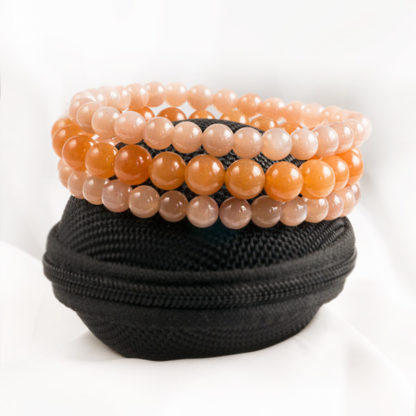 Armbandsset Dream Stone - (orange månsten, orange aventurin)