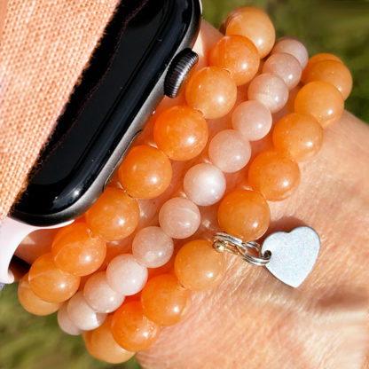 Armbandsset Good Luck - (orange aventurin, orange månsten)