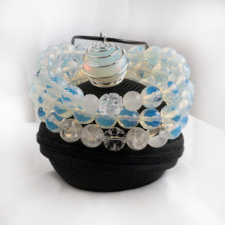 Smyckeset Magi - (opalit, bergkristall)