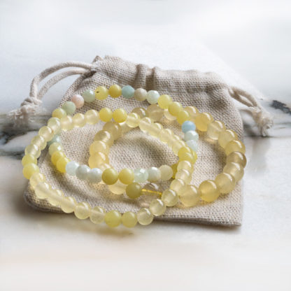 Armbandsset Key up - (fasetterad opal, serpentin, jade)