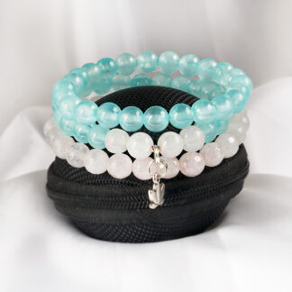 Armbandsset Restart Two - (jade, rosenkvarts)